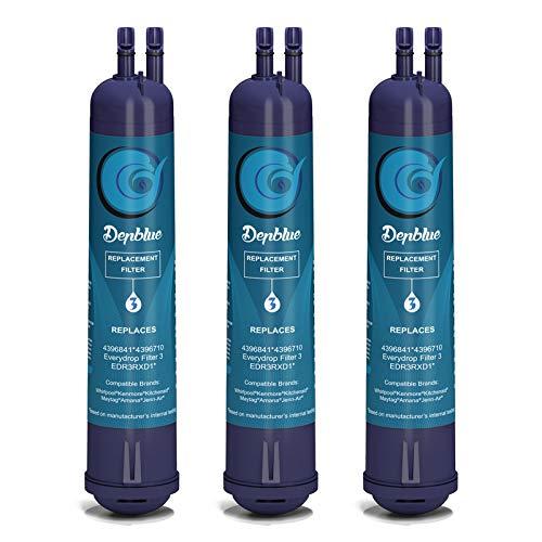 Tetovit 4396841 EDR3RXD1 Water Filter Cap Compatible with Filter 3, 4396841, 4396710, P2RFWG2, Pur Water Filter, Kenmore 9030 Water Filter,Purple-3-Pack