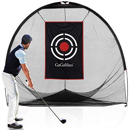 GALILEO Golf Nets Golf Practice Net Hitting Netting for Backyard Portable Driving Range Golf Cage Indoor Golf Net Training Aids with Target 8'x7'x7'