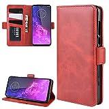 Téléphone cellulaire Cas pour Motorola One Zoom Portefeuille de Portefeuille en Cuir boîtier de...