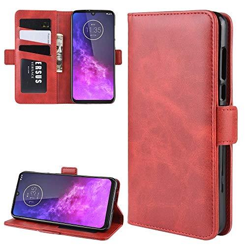 YANGJIE Cas de téléphone for Motorola One Zoom Wallet Support de téléphone Portable Housse en Cuir avec Portefeuille et Support et Fentes de Carte (Noir) Cell Phone Back Cover (Color : Red)