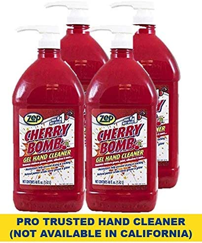 lowest Zep Cherry Bomb Hand Cleaner 48 Ounce (Case of 4) - Volcanic Rock and Emollients - Perfect outlet sale for sale Mechanics and DIY'ers outlet online sale