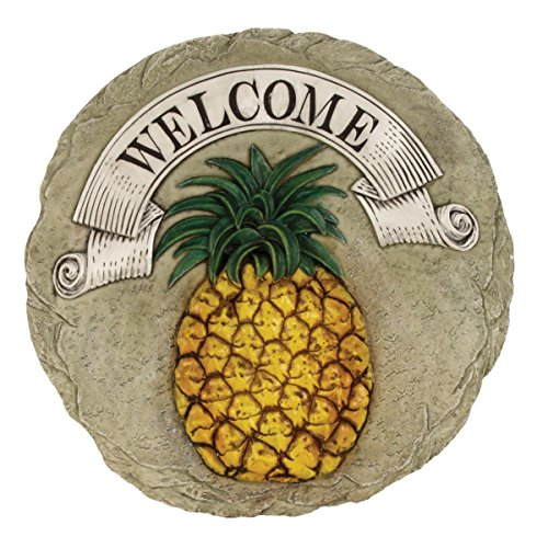 Spoontiques - Garden Décor - Pineapple Stepping Stone - Decorative Stone for Garden