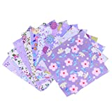 Healifty Cotton Square Quilted Patchwork Fabric Floral Pattern Sewing Textile...