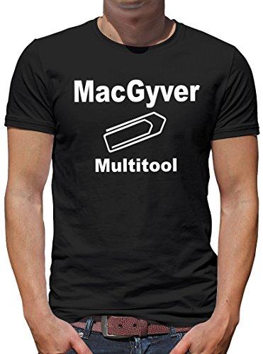 TShirt-People MacGyvers Multitool T-Shirt Herren M Schwarz