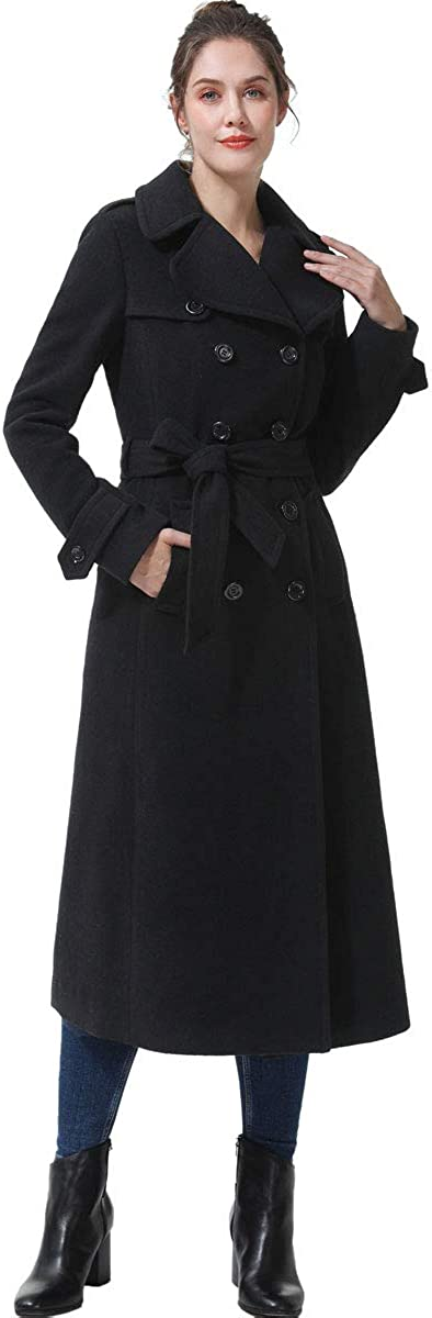BGSD Women's Dee Full Length Long Wool Trench Coat (Regular & Plus Size & Petite)