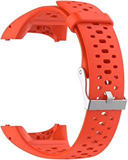 Kudden Watch Band Strap Universal Pin Buckled Adjustable Silicone Replacement with Tool for Polar M400 M430