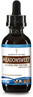 Meadowsweet Alcohol-Free Liquid Extract, Organic Meadowsweet (Filipendula Ulmaria) Dried Herb Tincture Supplement (2 FL OZ)