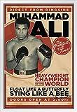 Pyramid America Muhammad Ali Poster im Vintage-Stil, mit