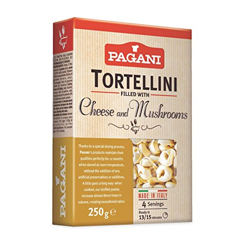 Pagani Tortellini fileld with Cheese & Mushrooms, 8.5 oz (Pack of 8)