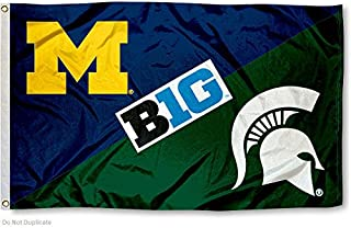 College Flags and Banners Co. Michigan vs. Michigan State House Divided 3x5 Flag