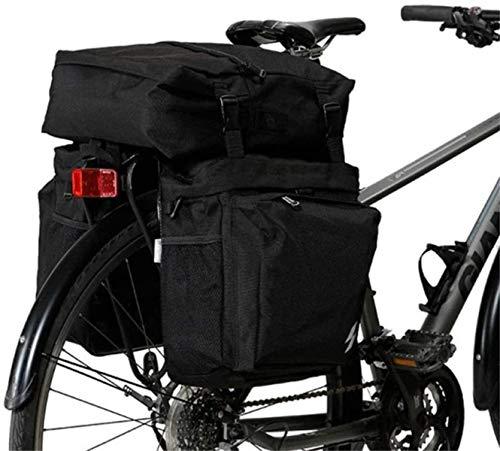 ZSY Bolsas para sillines Bolsa de Equipaje de Ciclismo a Prueba de Agua a Prueba de Agua MTB Bolsa de Almacenamiento Bicicleta Bicicleta Almacenamiento Trasero (Color : Black, Size : 37L)