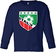 Italy Soccer - Distressed Badge Infant/Toddler Cotton Jersey T-Shirt