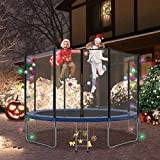 12 FT Trampoline with Safety Enclosure Net, Ladder, Spring Pad, Combo Bounce Jump Trampoline, Outdoor Trampoline for Kids, Adults