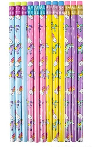 24 Unicorn Pencils- Great For Classrooms, School Supplies, And Party Favors