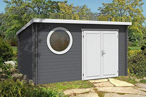 Alpholz Gartenhaus 44 mm Wandstärke Maria-Rondo B aus...