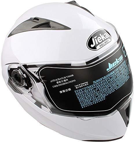 Casco Moto Blanco Marca Qiilu Tool