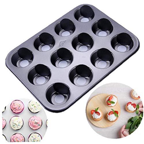 Case Cover 12 Cups Antihaft-Mini Cheesecake Pfanne, Antihaft-Mini-Käsekuchen Pan Pan-Muffin-Form, abnehmbaren Boden Dessert-Werkzeug-Backen-Wannen