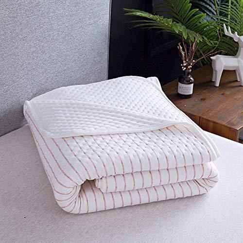 Alician Slub Katoen Zomer Quilts Alle Katoen Enkele Quilt Airco Bedspreien Breien Zomer Quilts