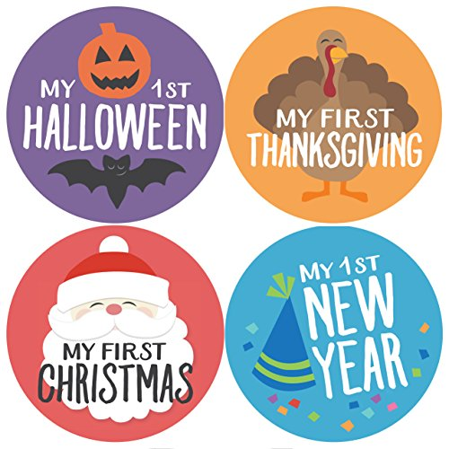 Baby Holidays, Holiday Stickers, Milestone Stickers, My First Christmas, My First Halloween, Baby Stickers, Baby Gift