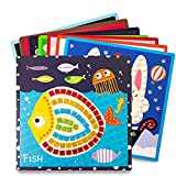 Jar Melo Mosaic Stickers for Kids; Mosaic Art; 8 Sheets; Kids Mosaics Painting; Sticker-by-Number,Animal Homeland, for Kids