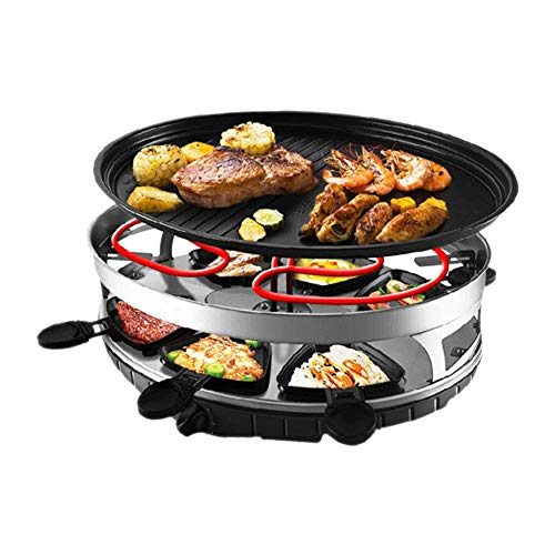 YFGQBCP Grill Smokeless Indoor BBQ Table Electric Grill Korean Style Barbecue Non-Stick Griddle Plate, with 6 Mini Pans, 1500 W