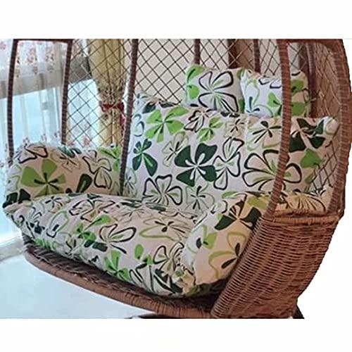 CIN&GO Cuscino per Sedia Pensile Cuscino per Sedia Papasan Cuscino per Sedia Amaca Cuscino per Dondolo da Giardino con Poggiatesta E Braccioli Cuscino per Sedia in Rattan Lavabile