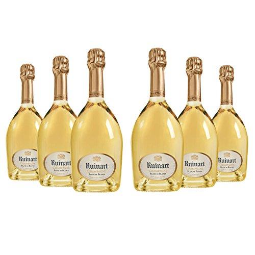Lot 6 bouteilles Champagne - Ruinart Blanc de Blancs - Livraison offerte - 6x75cl