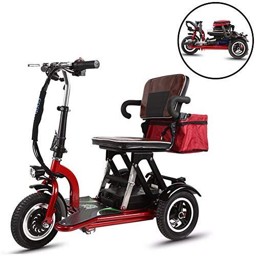 JJGS Scooter Electrique Handicapé - 3 Roues Mobylette Senior...