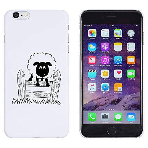Azeeda Weiß 'Springende Schafe' Hülle für iPhone 6 Plus und 6s Plus (MC00159258)