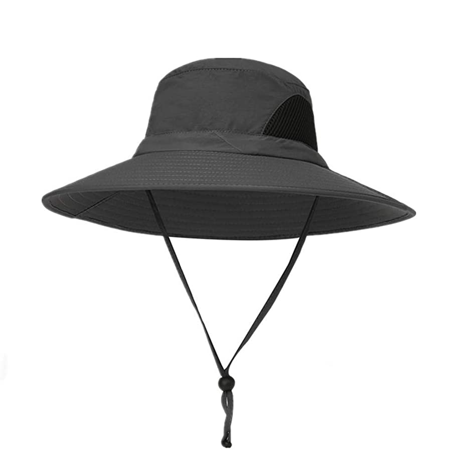 ジャンク値する魔術ROSE ROMAN - 日よけ帽子 uvカット ビッグバイザー 紫外線防止 あごひも付き 強風でも安心 折りたたみ 軽量 持ち運びに便利 取り外すあご紐 つば広 りたたみ サイズ調節可 旅行 自転車 アウトドア 男女兼用