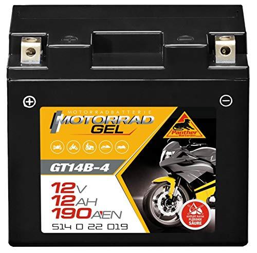 Panther GEL Batterie 12V 12Ah YT14B-4 Motorradbatterie DIN 51422 Quad GT14-B4