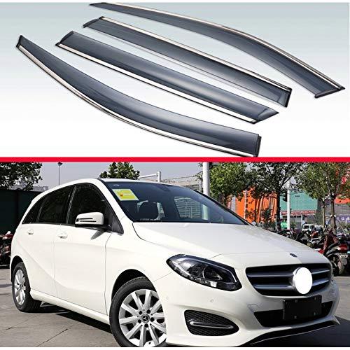 MYlnb Für Mercedes-Benz B-Klasse W246 B1220 B250 B180 B200 2013-2018, Kunststoff Außenvisier Lüftungsblenden Fenster Sonnenregenschutz Deflektor