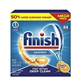 Product Image of the Finish All in 1 Gelpacs Orange, Dishwasher Detergent Tablets 84 count (packaging may vary )