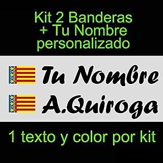 Vinilin - Pegatina Vinilo Bandera Valencia + tu Nombre -
