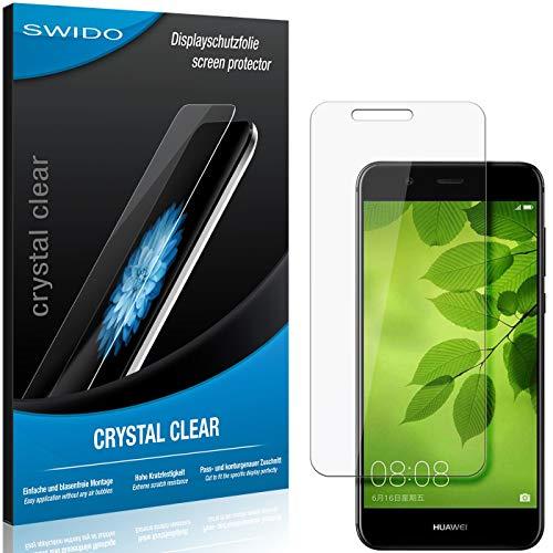 SWIDO Schutzfolie für Huawei Nova 2 Plus [2 Stück] Kristall-Klar, Hoher Festigkeitgrad, Schutz vor Öl, Staub & Kratzer/Glasfolie, Bildschirmschutz, Bildschirmschutzfolie, Panzerglas-Folie