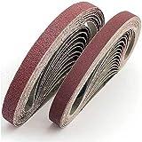 FEIHU Sanding Belts 13x457 mm.Aluminum Oxide Sanding Belt Assorted.Each 6X 40/80/120/180/320.Sanding Belt Set, for Belt Sander (30 Pieces)