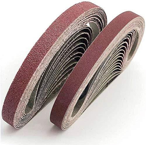 Aluminum Oxide Sanding Belts, 13x457MM Sanding Belt. for polishing Metal, Wood. 6 Grains Each 6x40 / 80/120/180/320, Sanding Belt Set, for Belt Sander (30 Pieces)