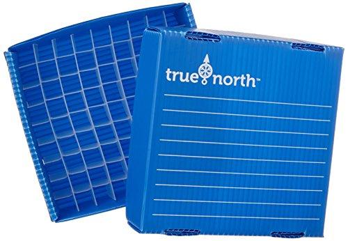 Heathrow Scientific HD120384 - Contenitore per freezer True North Flatpack, 100 scomparti, 0,5 ml, 10 pezzi, blu