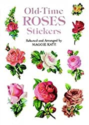 old time roses stickers