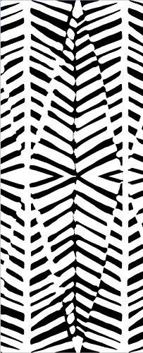 Plage 145713 Non Woven Wallpaper Papier Peint intissé Rayures, Papier Peint Non tissé, Noir et Blanc, 98 x 0,2 x 240 cm