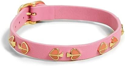 Kate Spade New York Women's Heritage Spade Enamel Stud Leather Bracelet