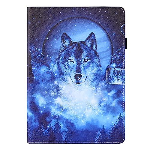 JIan Ying Funda para Samsung Galaxy Tab A 9.7 SM-T555 SM-T550 Slim Ligero Protector Cover Moon wolf