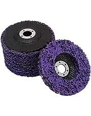 Jcevium 5 discos abrasivos de 125 mm de Poly Poly Strips de rueda para quitar el barniz de la rueda para quitar el ángulo de la lijadora