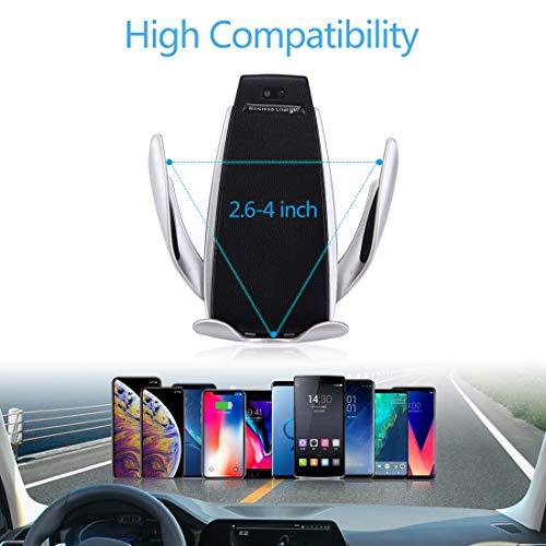 LONOSUN Staffa per Caricabatterie Wireless, Staffa per Auto da 10 W con Clip di rilevamento Automatico