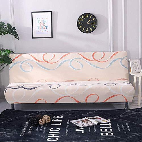 Sofa Schonbezug Easy Fit Stretch Soft Couch Bezug, Druck Schlafsofa Bezug Klappsitz Schonbezüge, Armless Couch Protector Handtuchwickel HH 160-190CM