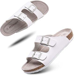 Sandalias de Pala Mujer Hombre Sandalias de Vestir Mules Punta Abierta Chanclas Plano Cómodas Verano Ajustable Hebilla Zap...