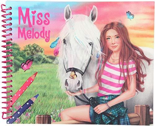 Depesche 10441 Malbuch Miss Melody, Dress up Your Horse, ca. 18,5 x 15 x 1,5 cm, bunt