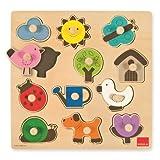Goula - Puzzle siluetas, piezas de madera (Diset 53118) , color/modelo surtido