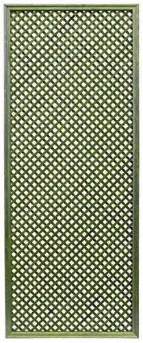 Celosía De Madera Tratada para Decoración De Terrazas, Jardines y Exteriores - Verde (228x92 cm)