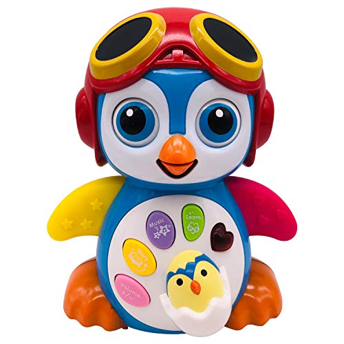Pup Go Musical Dancing Penguin Toy for Toddler - Baby Early Education Toys with Music, Walking, Lights, Story and Intelligence Training, Best Gift for 1 2 3 Year Old Kids Boys Girls